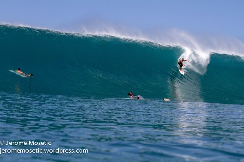Brazo charger taking the drop on a nice sized set wave